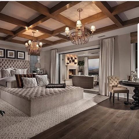 Luxurious Master Bedroom In Hollywood Hills Mansion. ❤️ it