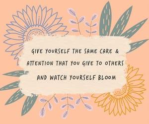 quotes, self love, and flowers image