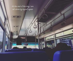 alone, bus, and feel alone image