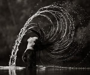 water and hair image