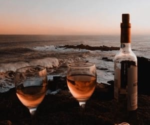beach, drink, and sea image