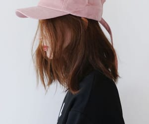 girl, pink, and korean image
