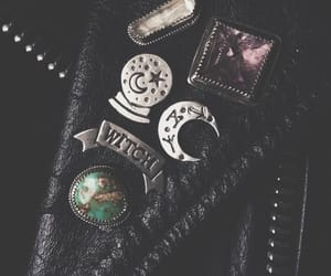 witch, pins, and black image