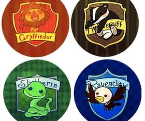harry potter, slytherin, and gryffindor image