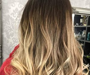 blond, brown, and curly image
