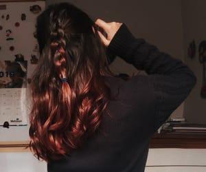 auburn, braids, and brunette image