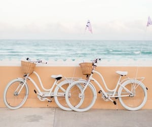 bike, summer, and ocean image