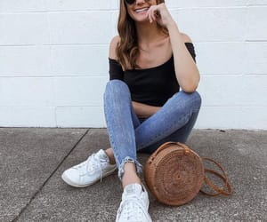 fashion, outfit, and off shoulder image