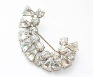 bridal jewelry, rhinestone pin, and clear crystal pin image