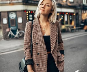 checkered, coat, and style image