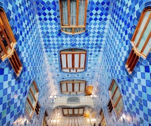 architecture, Barcelona, and blue image