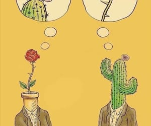 cactus, love, and rose image