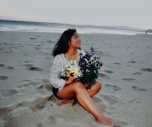 beach, boho, and happiness image