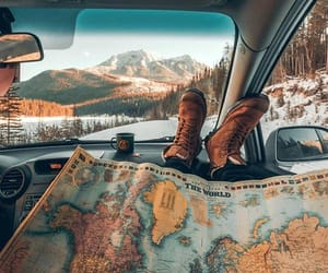 adventure, map, and roadtrip image