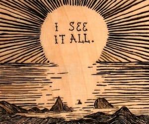 sun, text, and art image