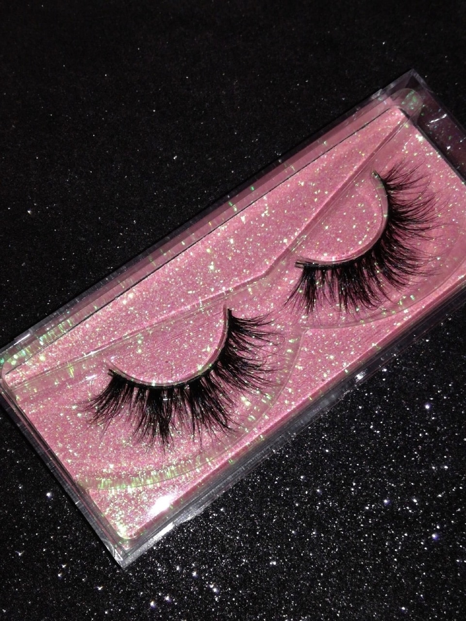girl, glam, and lashes image