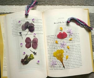 book, diy, and flowers image