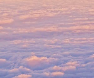 clouds, pink, and sunrise image