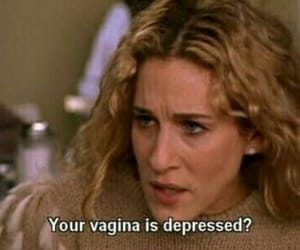 sex and the city, depressed, and quotes image