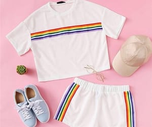 outfit, rainbow, and fashion image