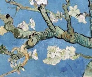 almond blossom, art, and painting image