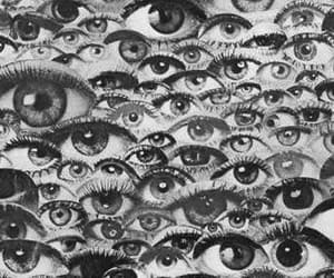 eyes, black and white, and eye image
