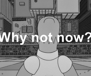 black and white, homer, and now image