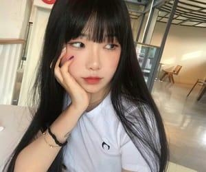 asian girls, bangs, and girls image