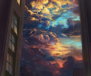 sky, art, and clouds image