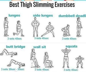 exercises, workout, and healthy image