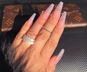 girl, nails, and jewelerry image