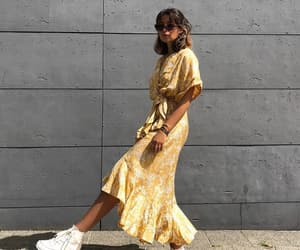 fashion, spring, and yellow dress image
