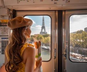 paris, tour eiffel, and métro image