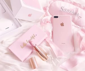 lipstick, phone, and i love pink image