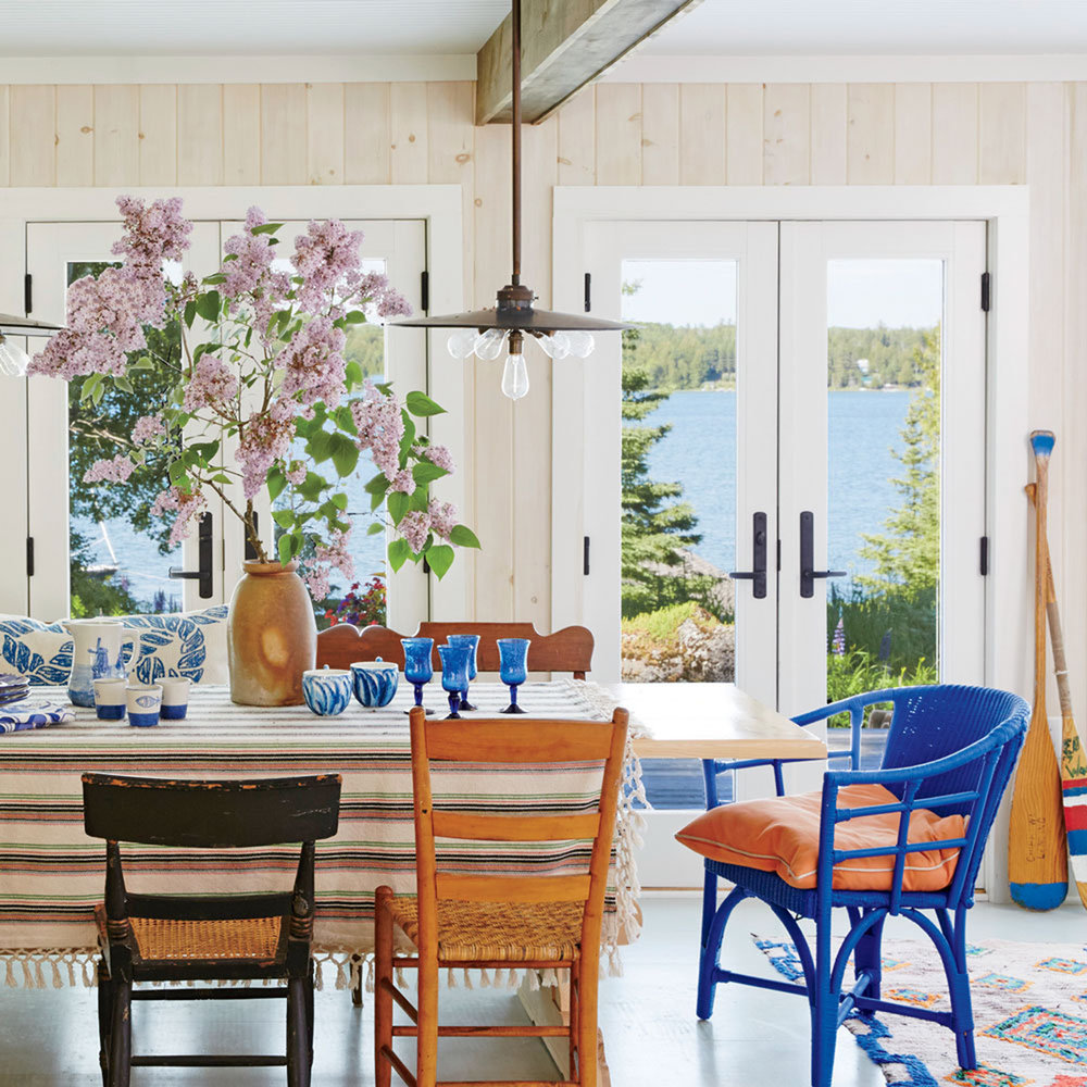 Beach House Dining Rooms Coastal Living Blue Wicker End