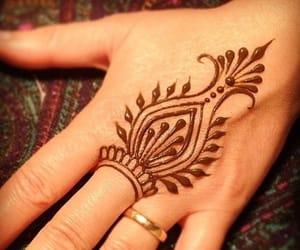 hand, mehndi, and henna image
