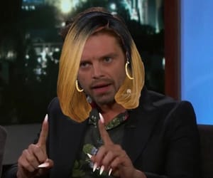 meme, reaction, and sebastian stan image