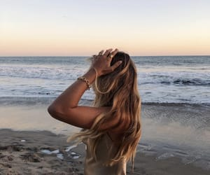 beach, water, and fashion image