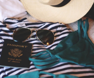 summer, travel, and sunglasses image