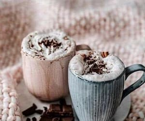 chocolate, coffee, and winter image