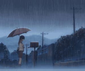 anime, gif, and september rain image