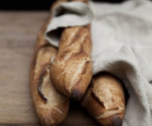 baguette, bread, and food image