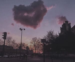 heart, sky, and clouds image