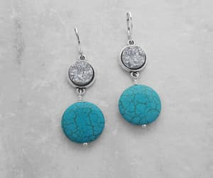 contemporary, howlite earrings, and etsy image