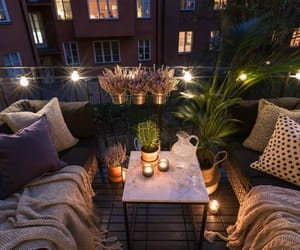 home, balcony, and night image