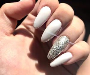white, white nails, and new nails image