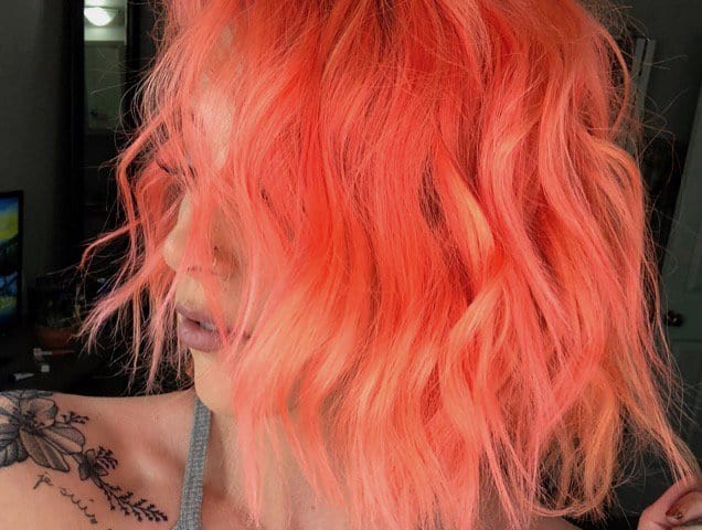 hairstyle, peach hair, and beauty trend image