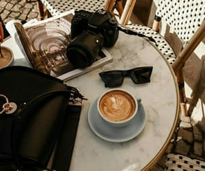 coffee, sunglasses, and photography image