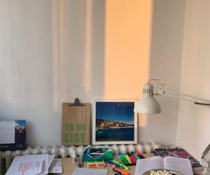 books, popcorn, and calendar image