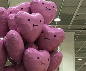 balloons, pink, and cute image